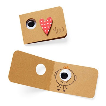 Googly eye valentine: Non-candy valentines ideas | Roots & Boots
