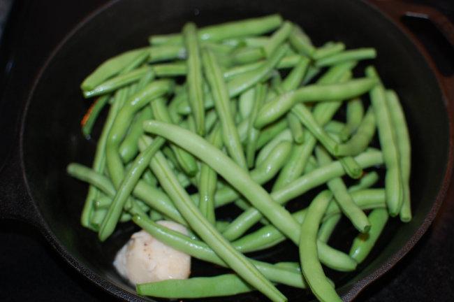 green beans from the garden