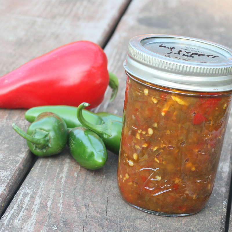Honey Sweetened Hot Pepper Jam for Canning
