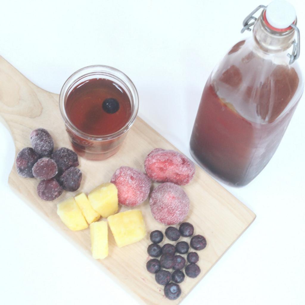 How to Flavor Kombucha with Frozen Fruit | Yankee Homestead