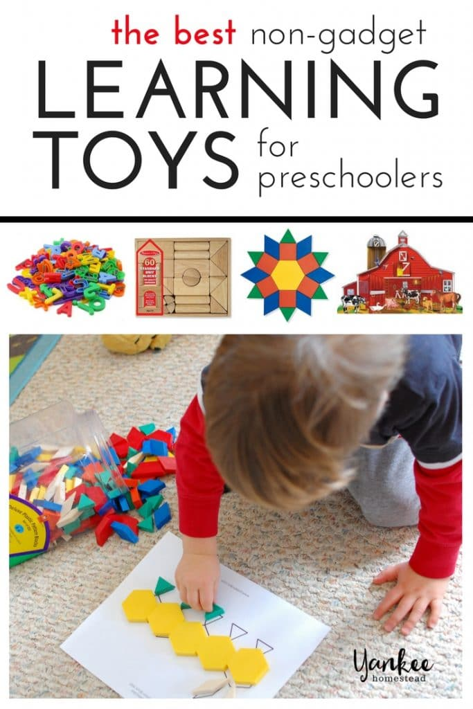 Skip the screens! Stock up on these non-gadgety learning toys for preschoolers and be prepared to spark your child's creativity and imagination. | 12 Best Learning Toys for Preschoolers | Yankee Homestead