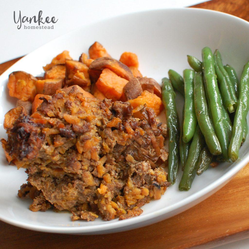 Paleo Crockpot Sweet Potato Meatloaf | Yankee Homestead