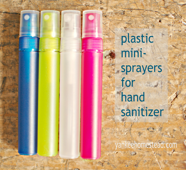 Plastic Sprayers for Hand Sanitizer with Essential Oils | Yankee Homestead