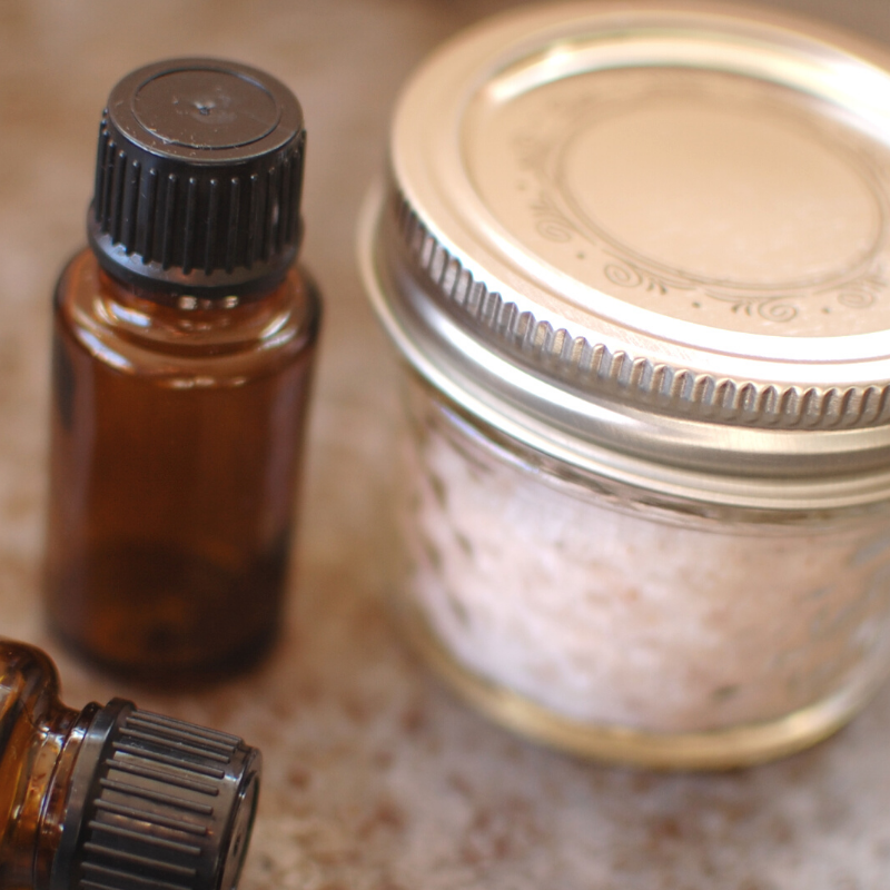 Seasoning Salt with Essential Oils