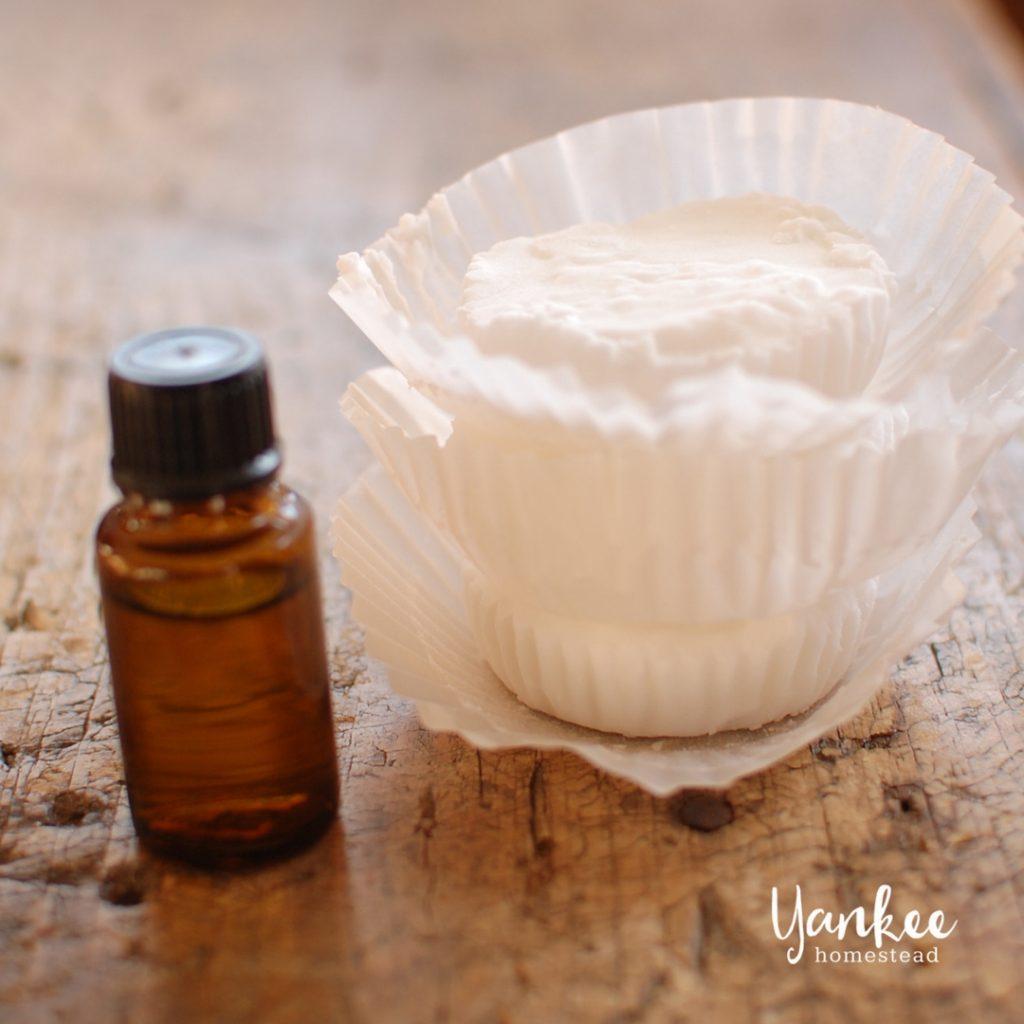 Homemade Shower Vapor Disks with Essential Oils