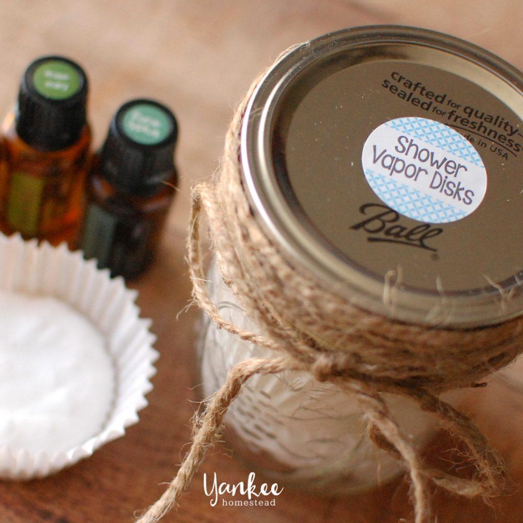 Homemade Shower Vapor Disks with Essential Oils | Yankee Homestead