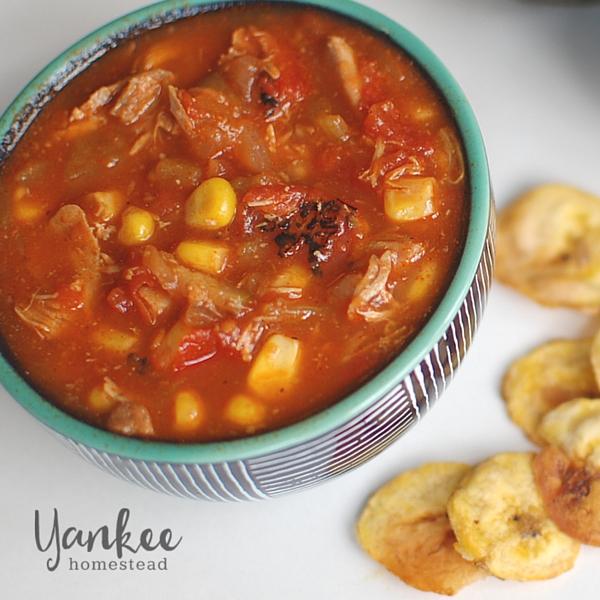 Chicken Tortilla Soup {Crockpot} | Yankee Homestead