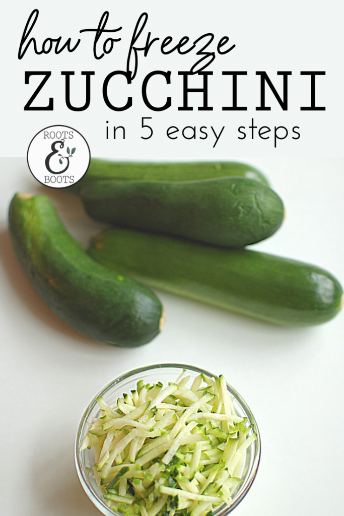 How to Freeze Zucchini in 5 Easy Steps | Roots & Boots