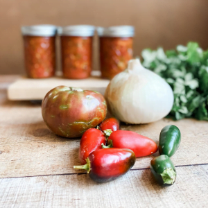 Home Canned Salsa with Lime Juice