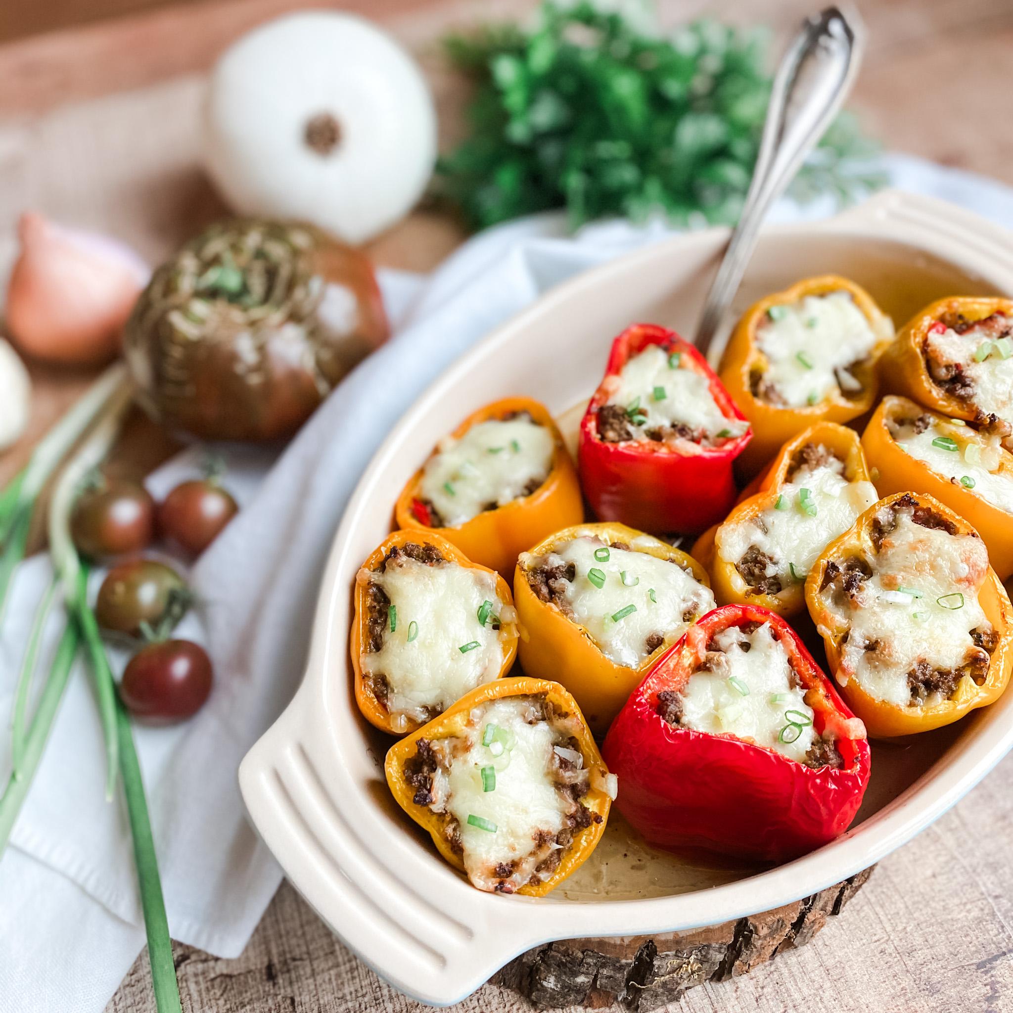 Grain-free Italian Stuffed Peppers   Roots & Boots