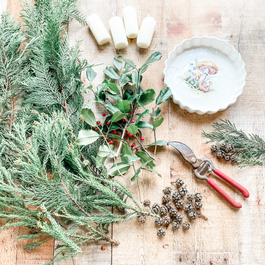 Homemade Advent Wreath with Foraged Greens   Roots & Boots