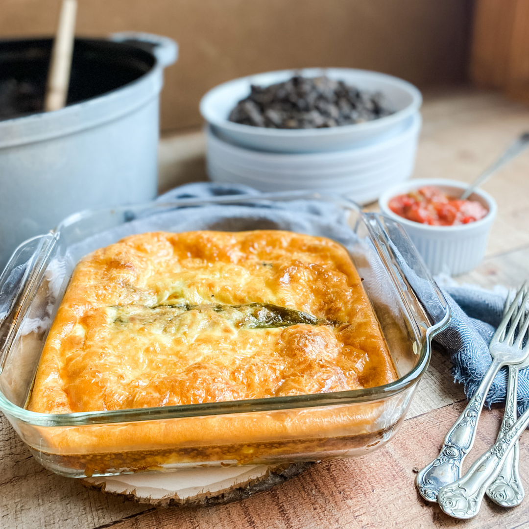 Chile Relleno Casserole | Roots & Boots