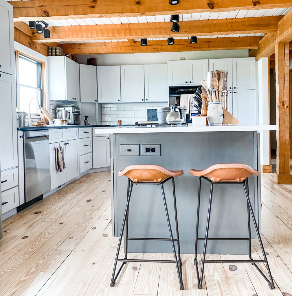 New Kitchen Update: Barstools! | Roots & Boots