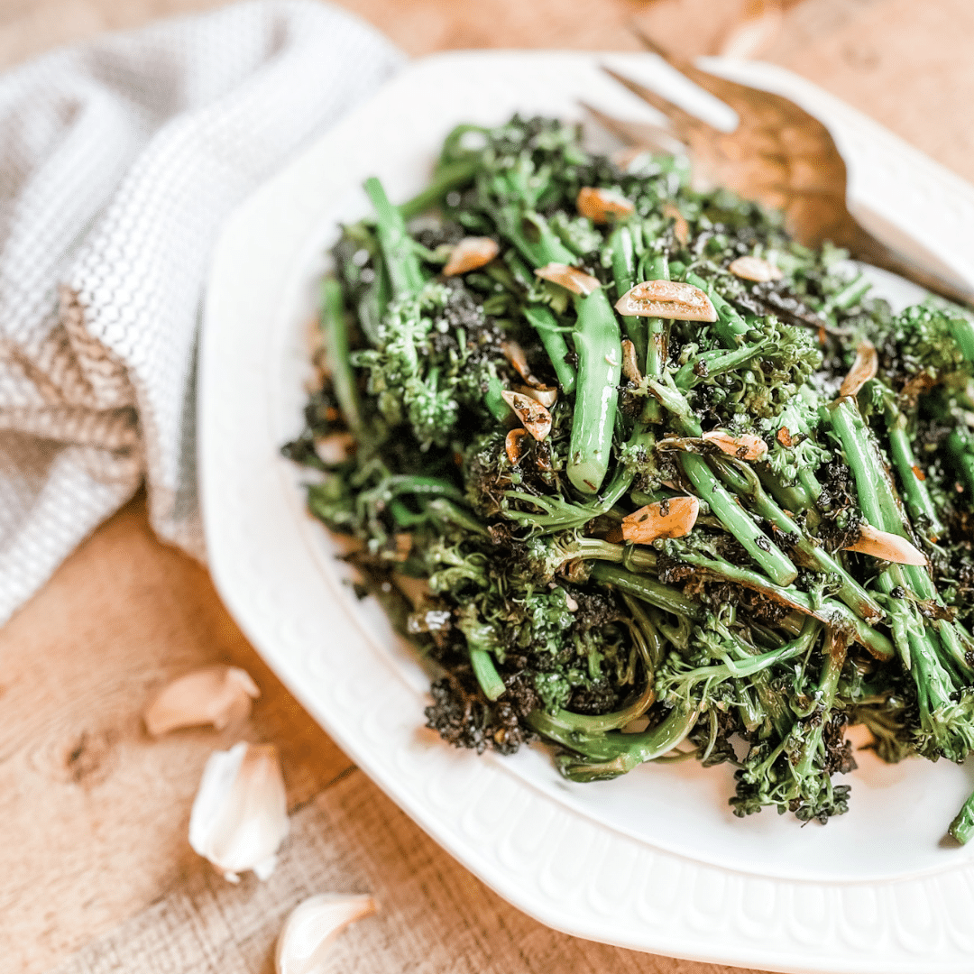 Charred Broccoli with Garlic | Roots & Boots