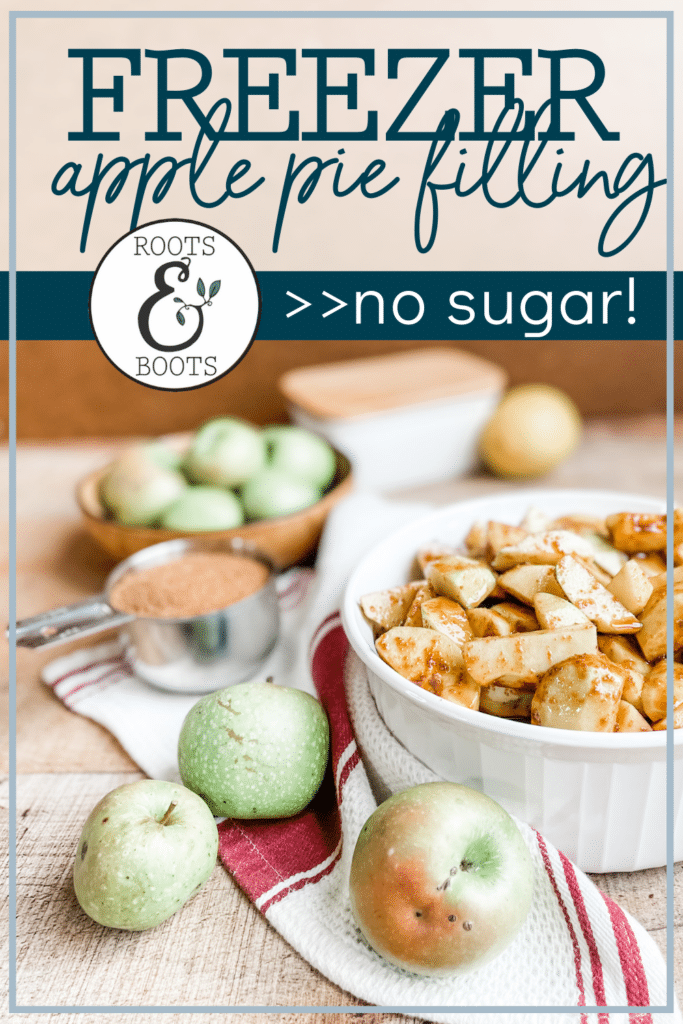 No-Sugar Apple Pie Filling for the Freezer | Roots & Boots