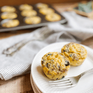 Hearty Sausage Egg Muffins with Greens | Roots & Boots