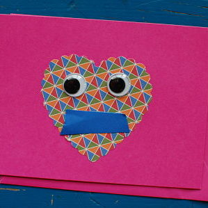 abstract valentine face