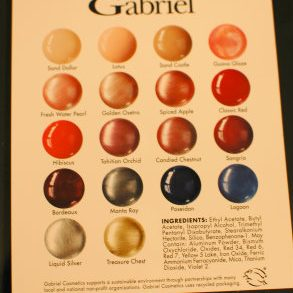 Gabriel color card