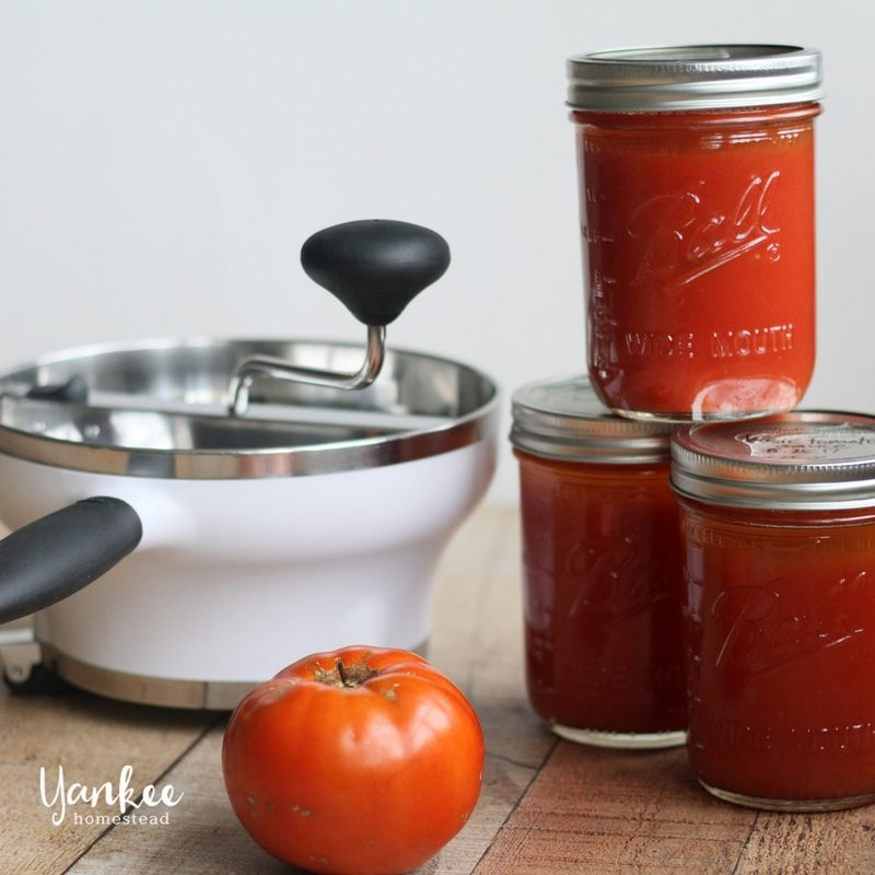 Basic Tomato Sauce for Canning