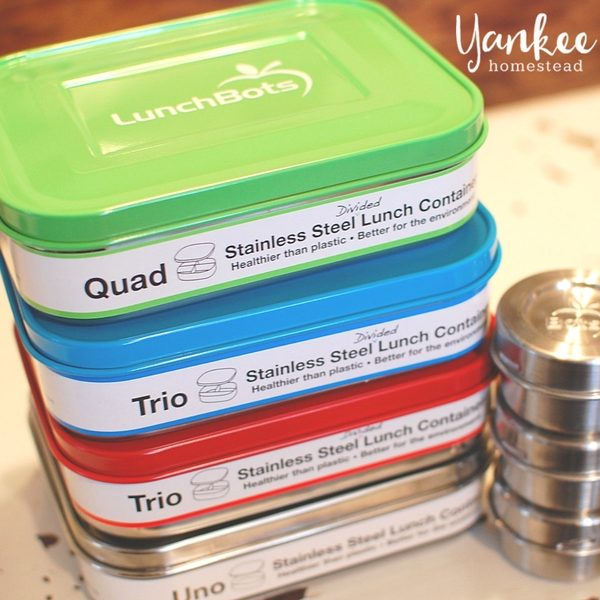 Pack a Plastic-Free Lunch with LunchBots Stainless Steel Containers
